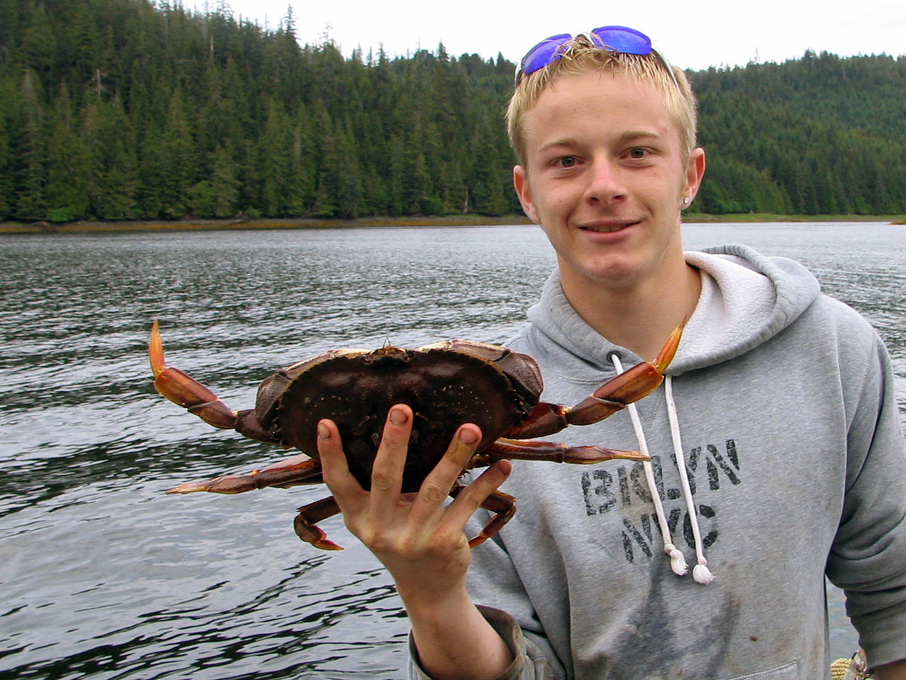 Fresh crab caught just moments from your cabin.