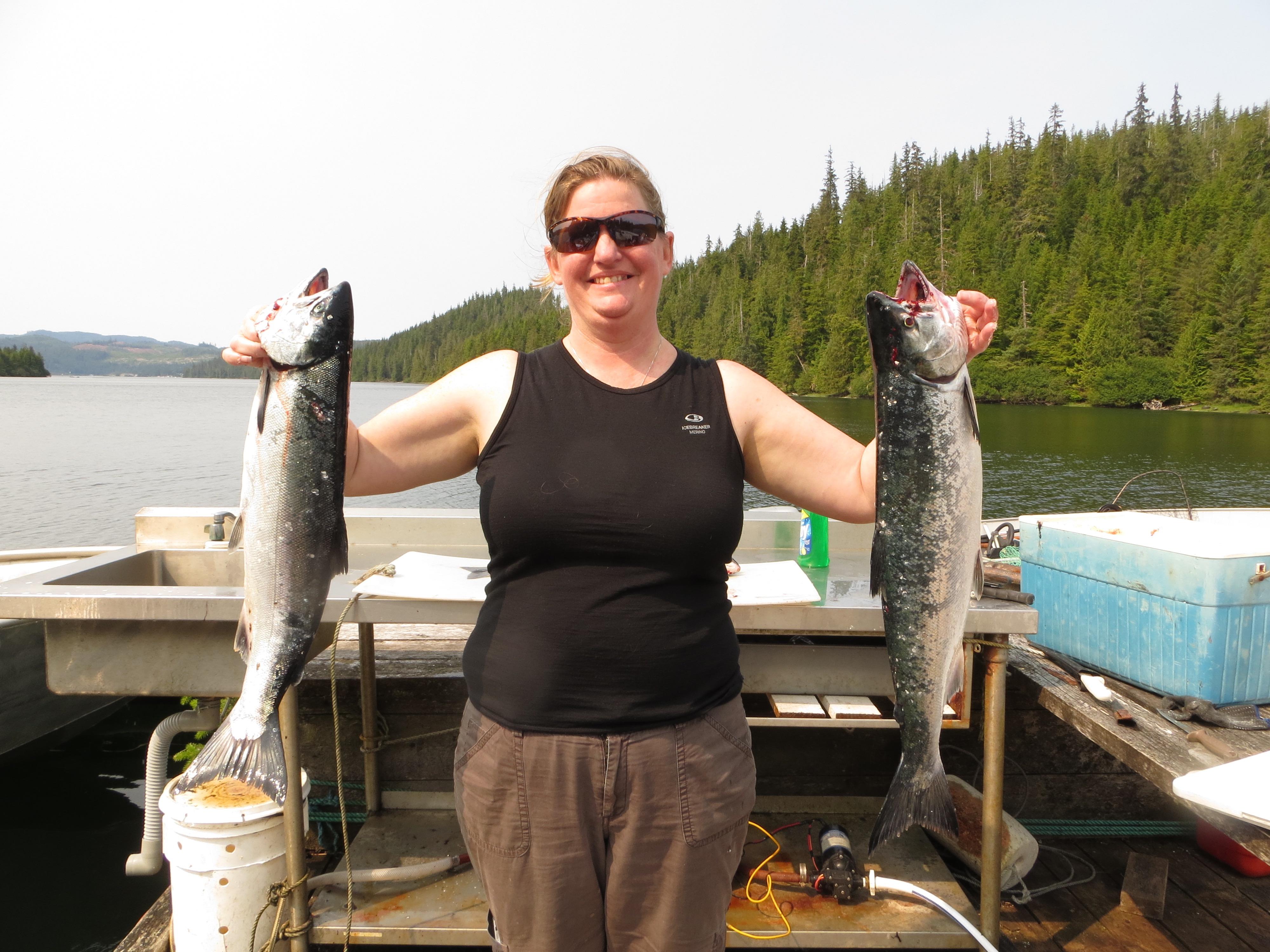 Fresh Coho Salmon. Alaskan Escape – Thorne Bay, AK.