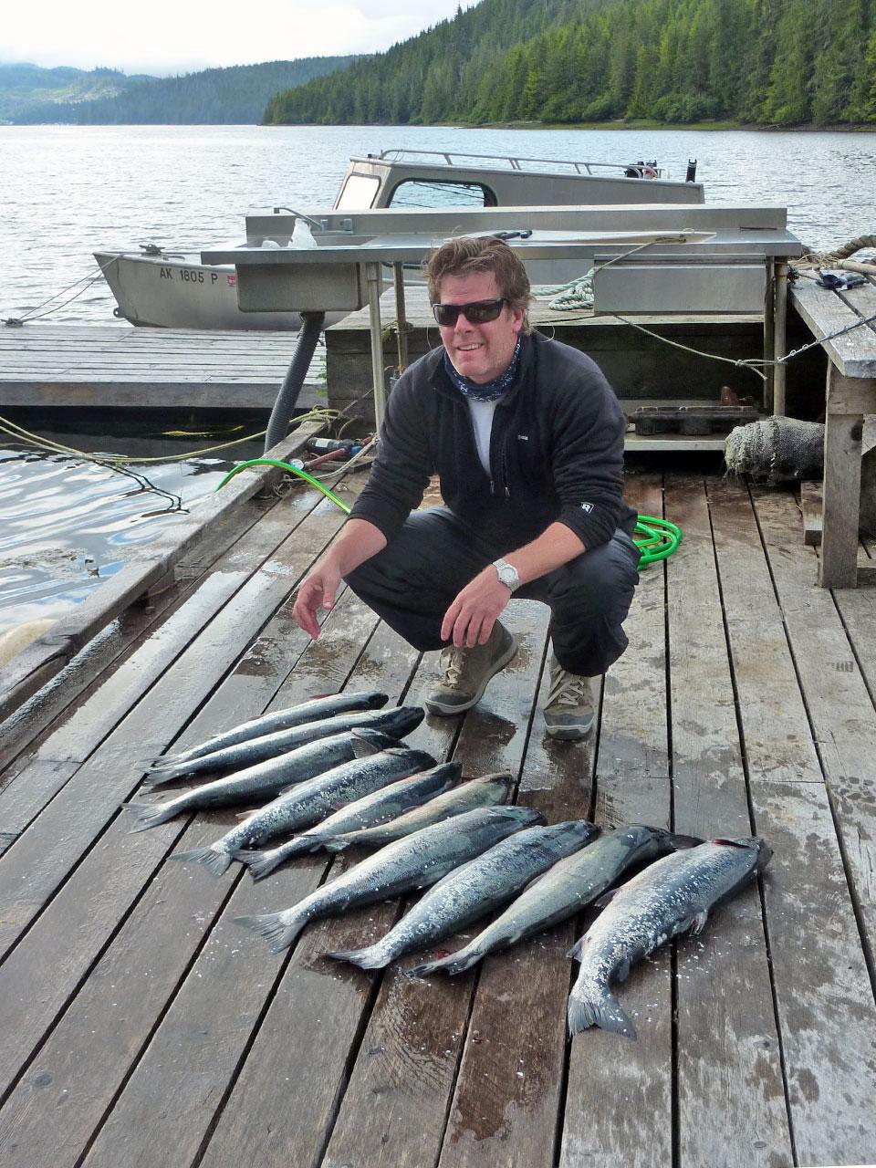 Salmon Fishing at Alaskan Escape